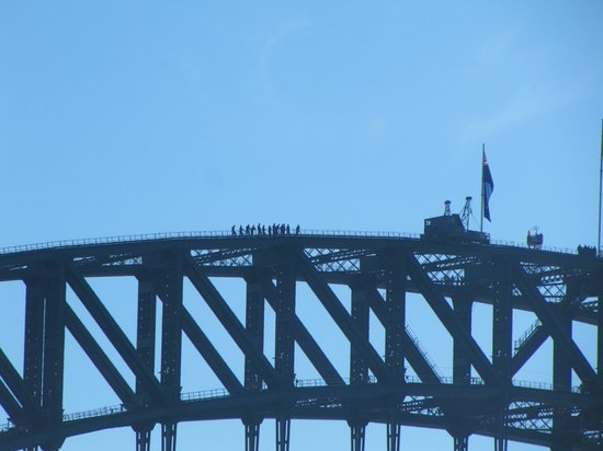 BridgeClimb : Climbers looking like ants from the harbour