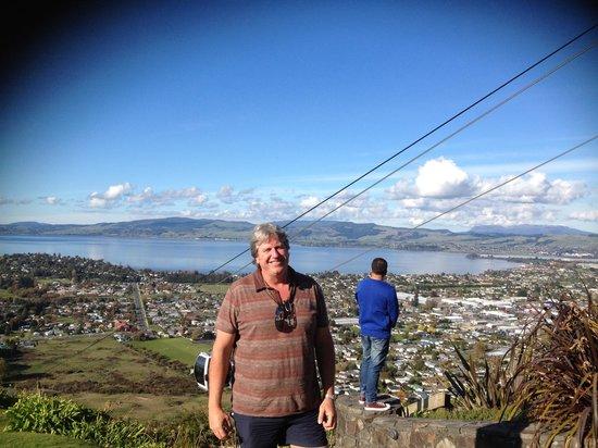 Skyline Rotorua : Me at the top overlooking the lake!