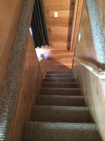 Cedar Point's Lighthouse Point: Deluxe cabin staircase