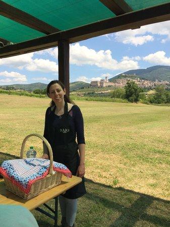Azienda Agraria Saio: Agnese our wonderful host