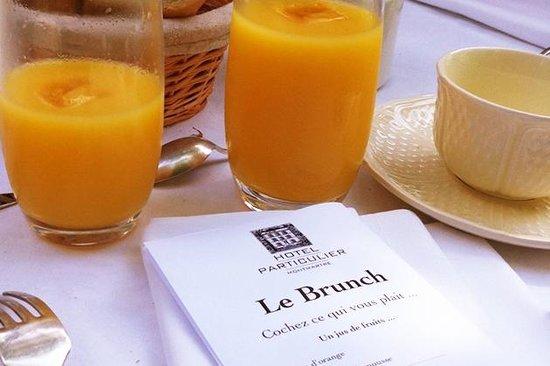 Hotel Particulier Montmartre : De très bons jus de fruits frais