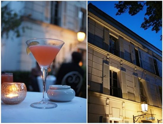 Hotel Particulier Montmartre : Cocktail at the bar at night