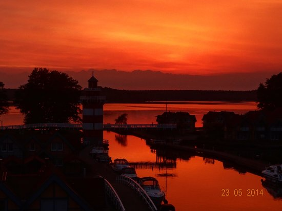Maritim Hafenhotel Rheinsberg: Sonnenuntergang