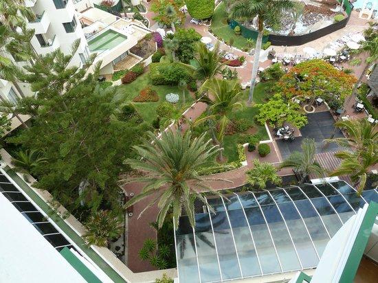 H10 Las Palmeras: vue du jardin du balcon