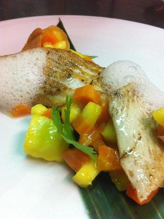 Moli de Vent: Steinbutt mit Mango-Karottenconfit