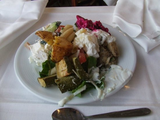 Arina Sand Resort : Greek night side dishes.