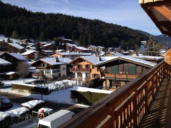 Residence L'Aiglon de Morzine : Vue d'un balcon