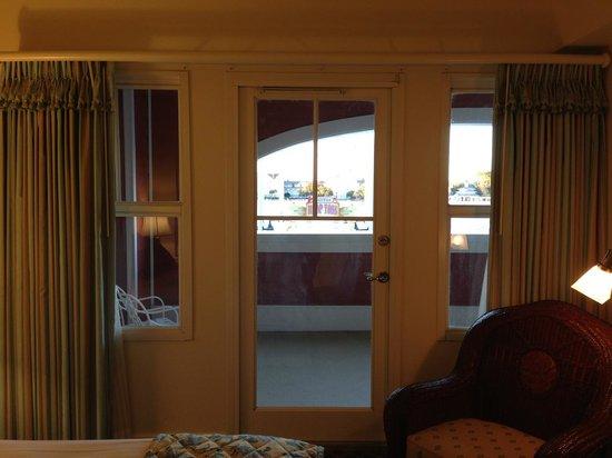Disney's BoardWalk Villas : View of two sided balcony from the bedroom