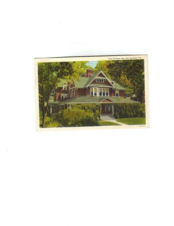 Old Post Card of Vine Cottage Inn