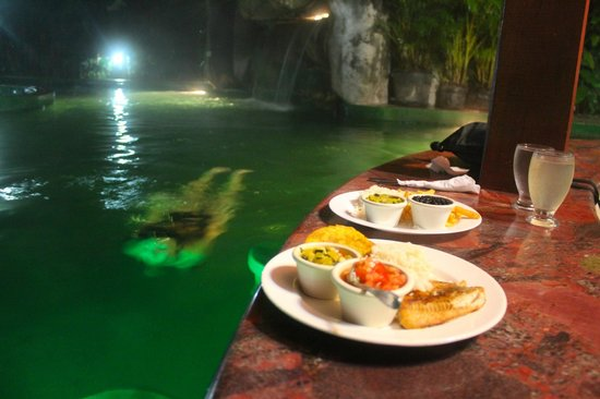Paradise Hot Springs: swim up meal!