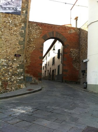 B&B Art: One of the town's Arch ways and Ancient wall.