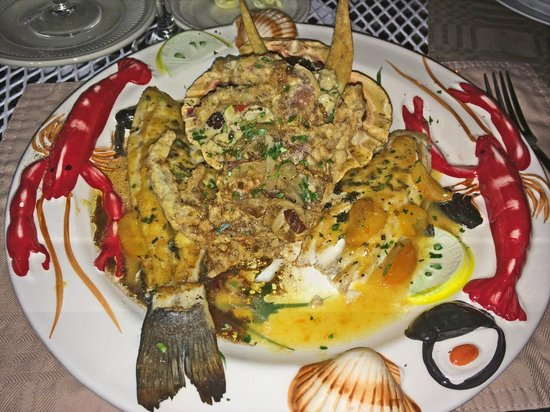 Violino Ristorante Italiano : Trout with soft shell crab entree