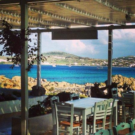 Taverna Kolymbithres: Amazing view..!!
