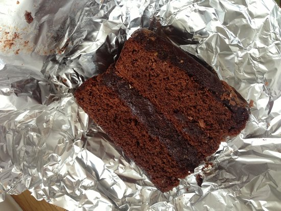 Biddys' Tearooms: Chocolate cake as a takeaway!