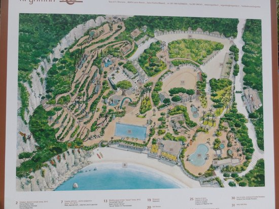 Negombo Giardini Termali: map of gardens