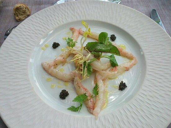 Hotel le Belvedere : Langoustines et caviar