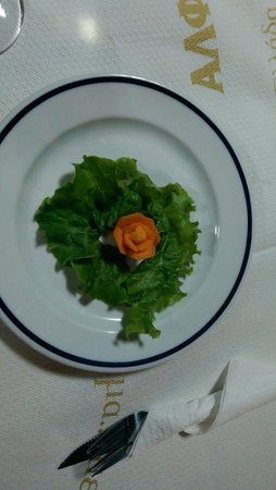 Taverna Romeo: Flower with you meal :)