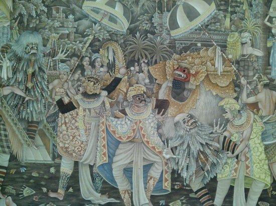Museum Puri Lukisan: Één van de schilderijen in het museum