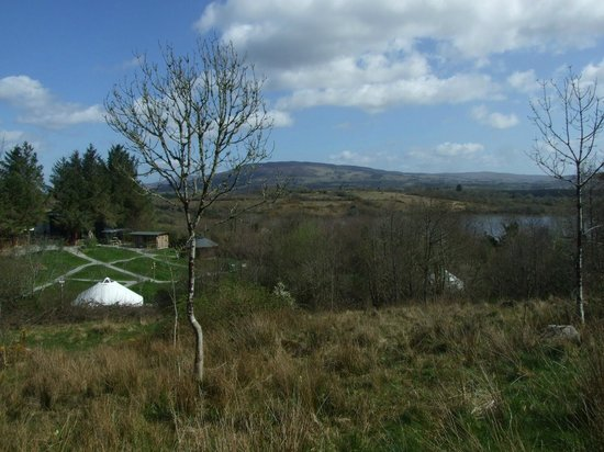 Ireland Glamping - Pink Apple Orchard: Overlooking Pink Apple Orchard, Lough Allen and The Iron Mountains.