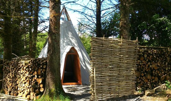Ireland Glamping - Pink Apple Orchard: The Wood Man's Teepee