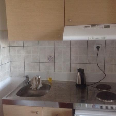 Elounda Water Park Residence: kitchenette