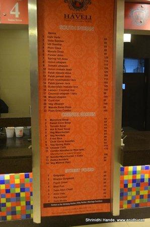 Rajpura, India: menu