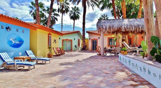 El Tiburon Casitas: Casita Poolside and patio with rockers and hammocks