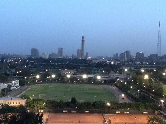 Cairo Marriott Hotel & Omar Khayyam Casino: room with a view, Cairo Tower in the foreground.