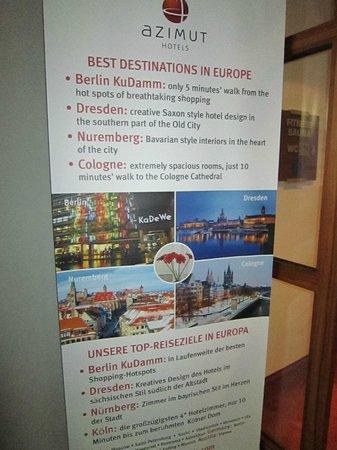 Azimut Hotel Cologne City Center : Der Flyer