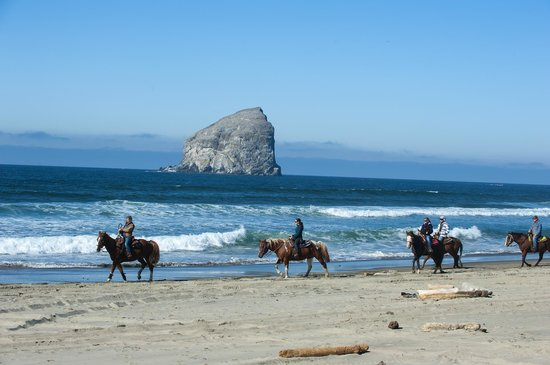 Green Acres Beach Rides Hay Stack Rock Pacific City Oregon