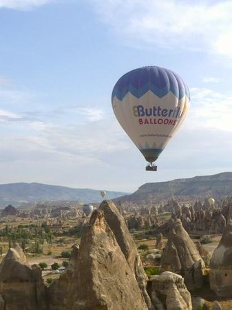 Butterfly Balloons: A view of the other Butterfly Balloon during our flight