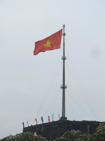 The Flag Tower: Good solid flag pole