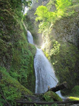 Columbia Gorge Scenic Highway: Beautiful Wahakeena Falls