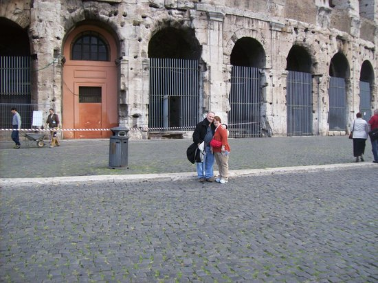 Rome Coliseum Guided Tours : my wife and I in Rome