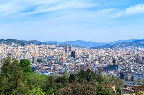Le Meridien Barcelona : city view from Montjuic