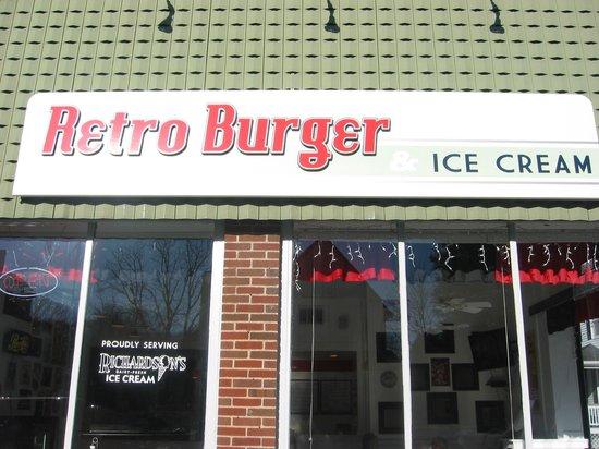 Retro Burger & Ice Cream: Sign