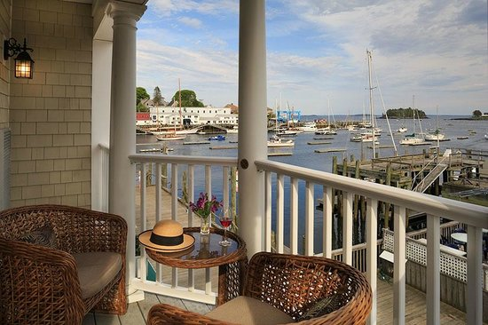 Grand Harbor Inn : Waterview Grand Suite Balcony View of Camden Harbor