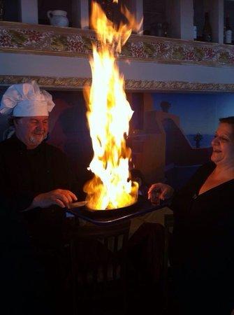 Chef Tommy's : Saganaki opa!!