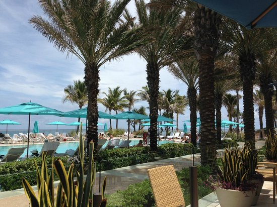 The Breakers: View from poolside restaurant