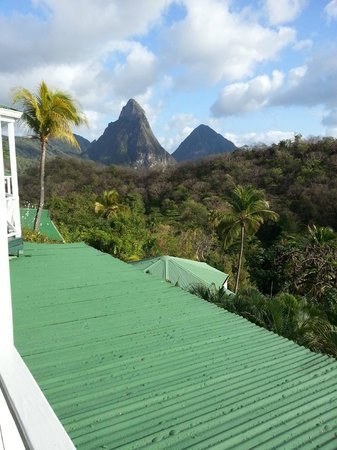 Anse Chastanet: Room view of the Pitons