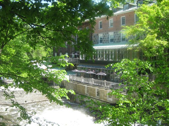 Muse: View of the Wakefield Mill and restaurant from the back lane