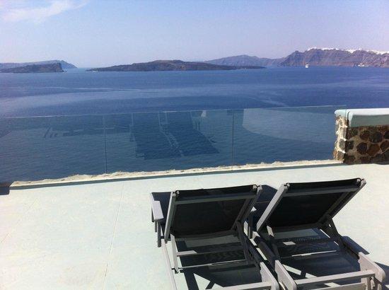 Ambassador Aegean Luxury Hotel & Suites: vue terrasse