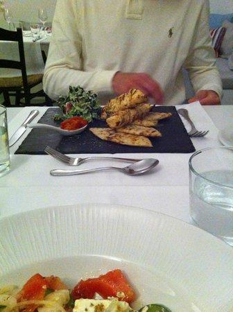 Ambassador Aegean Luxury Hotel & Suites : Exemple de plat au restaurant de l'hôtel