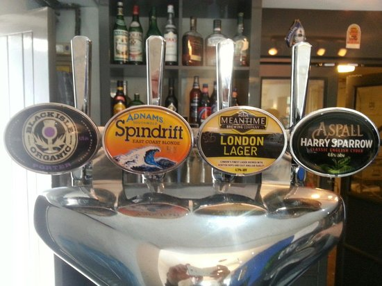 The Brunswick: Drinks available on draught including a little something from Adnams, Mean time, Small batch bre