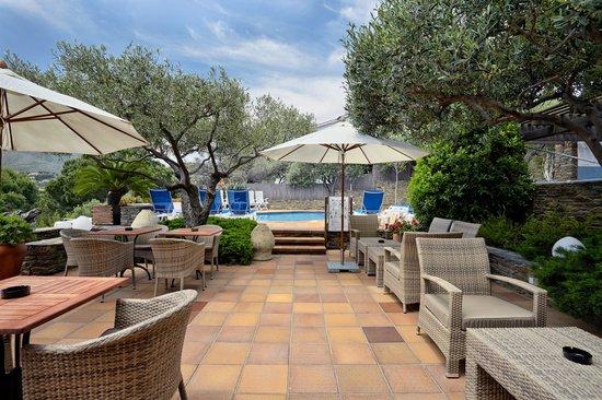 Hotel Blaumar Cadaqués: terraza
