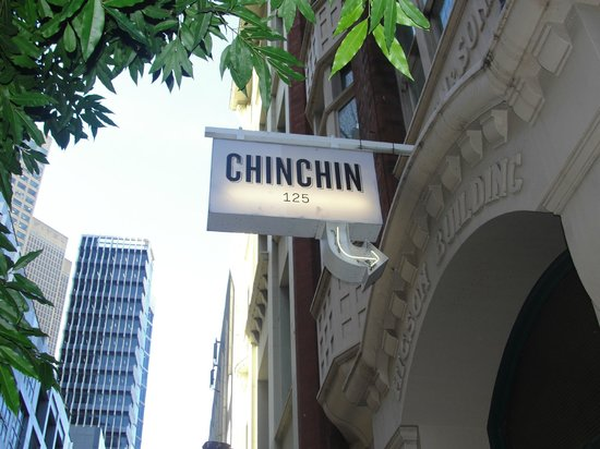 Chin Chin: Door of the restaurant