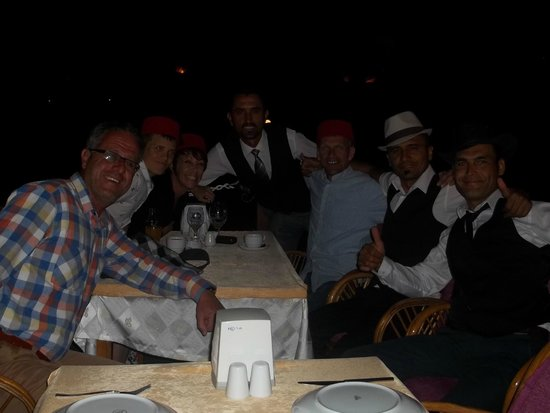 Sahil Restaurant: Swapping hats with the waiters at Sahil