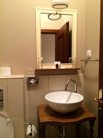 Hotel Jagerhorn: Bathroom with no soap dish