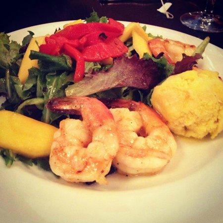 Chama Grill: shrimp mango jalapeno salad
