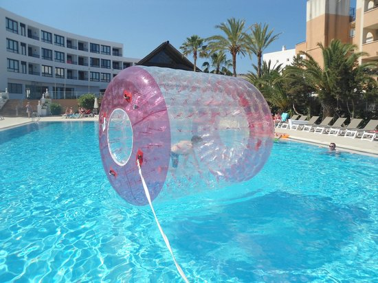 Marvell Club Hotel & Apartaments : pool entertainment included water walkers and water polo